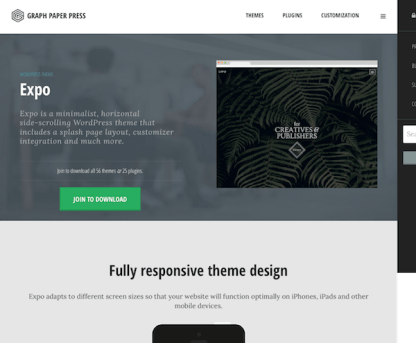 Graph Paper Press: Expo WordPress Theme