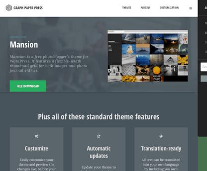 Graph Paper Press: Mansion WordPress Theme
