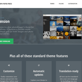 Graph Paper Press: Mansion WordPress Theme