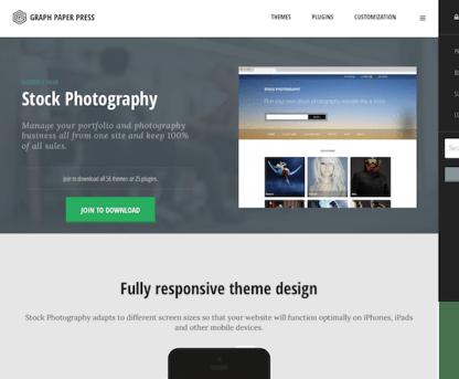 Graph Paper Press: Stock Photography WordPress Theme