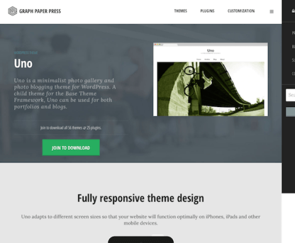Graph Paper Press: Uno WordPress Theme