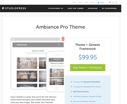StudioPress: Ambiance Pro Theme