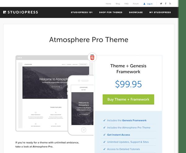 StudioPress: Atmosphere Pro Theme