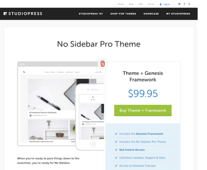 StudioPress: No Sidebar Pro Theme