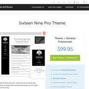 StudioPress: Sixteen Nine Pro Theme