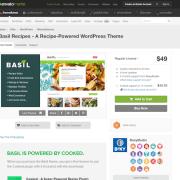 Themeforest: Basil Recipes