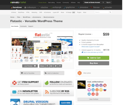 Themeforest: Flatastic