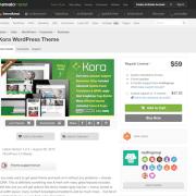 Themeforest: Kora WordPress Theme