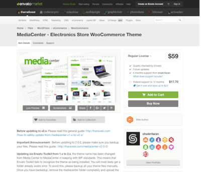 Themeforest: MediaCenter - Electronics Store WooCommerce Theme