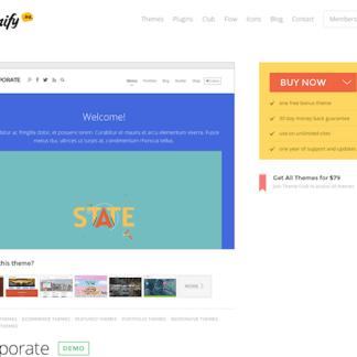 Themify: Corporate WordPress Theme