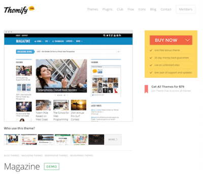 Themify: Magazine WordPress Theme