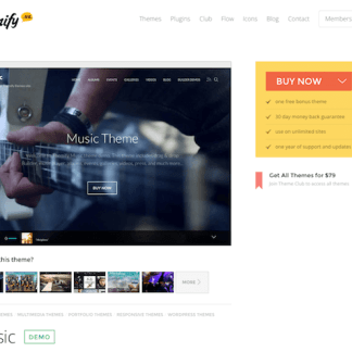 Themify: Music WordPress Theme