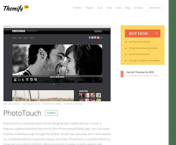 Themify: Phototouch WordPress Theme