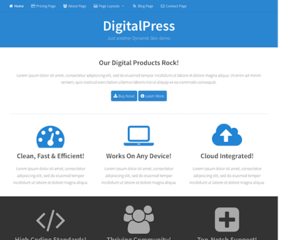 CobaltApps: Dynamik Skin DigitalPress
