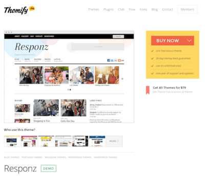 Themify: Responz WordPress Theme