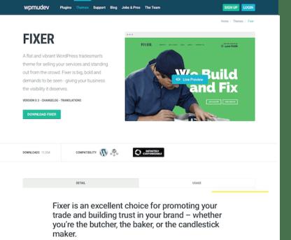 WPMU DEV: Fixer WordPress Theme