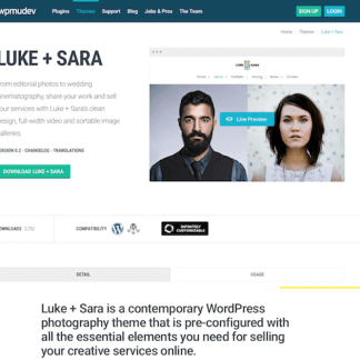 WPMU DEV: Luke and Sara WordPress Theme