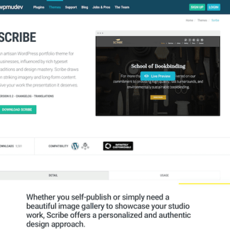WPMU DEV: Scribe WordPress Theme