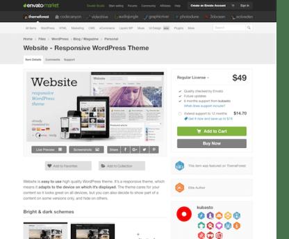 Themeforest: Website - Responsive WordPress Theme