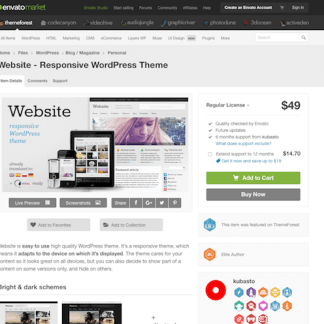Themeforest: Website - Responsive WordPress Theme
