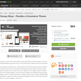 Themeforest: Cheope Shop