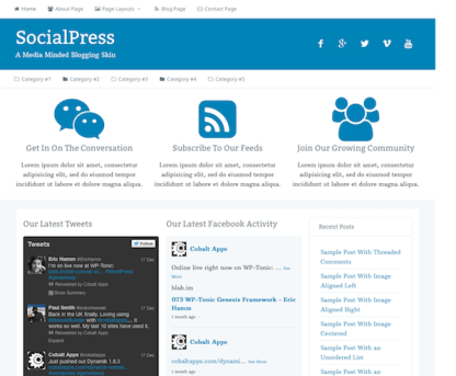 CobaltApps: Dynamik Skin SocialPress