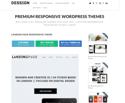 Dessign: Landing Page Responsive