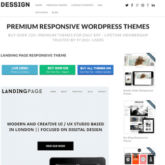 Dessign: Landing Page Responsive