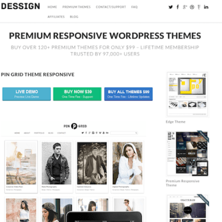 Dessign: Pin Grid Responsive