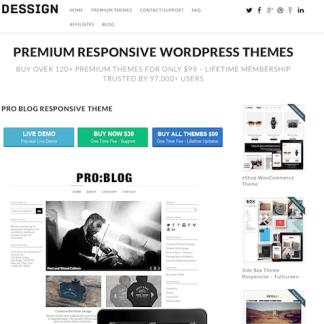Dessign: Pro Blog Responsive
