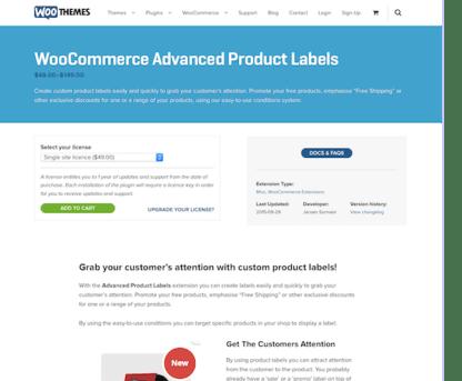 Extensión para WooCommerce: Advanced Product Labels