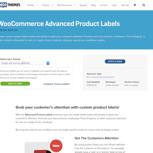 Extensión para WooCommerce: Advanced Product Labels