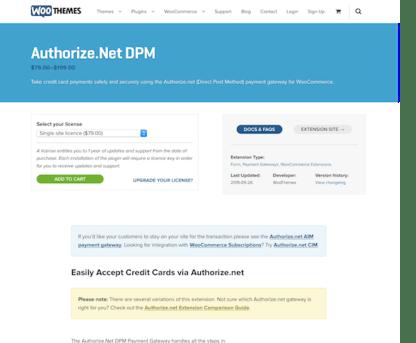 Extensión para WooCommerce: Authorize net DPM Payment Gateway