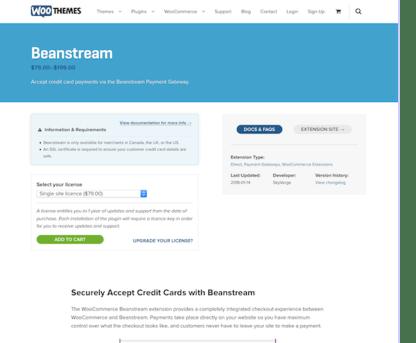 Extensión para WooCommerce: Beanstream