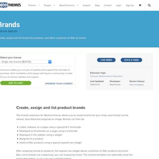 Extensión para WooCommerce: Brands