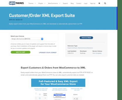 Extensión para WooCommerce: Customer Order XML Export Suite