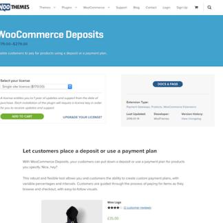Extensión para WooCommerce: Deposits
