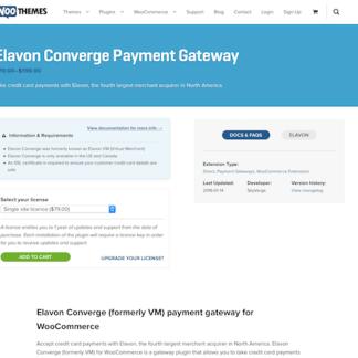Extensión para WooCommerce: Elavon VM Payment Gateway