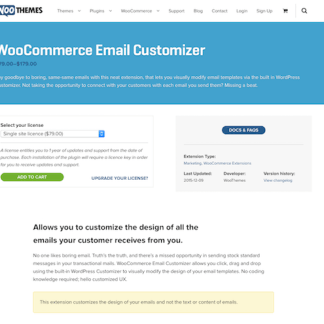 Extensión para WooCommerce: Email Customizer