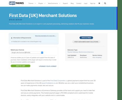 Extensión para WooCommerce: FirstData (UK) Merchant Solutions