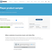 Extensión para WooCommerce: jPlayer product sampler
