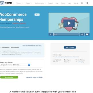 Extensión para WooCommerce: Memberships