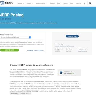 Extensión para WooCommerce: MSRP Pricing