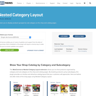 Extensión para WooCommerce: Nested Category Layout