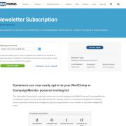Extensión para WooCommerce: Newsletter Subscription