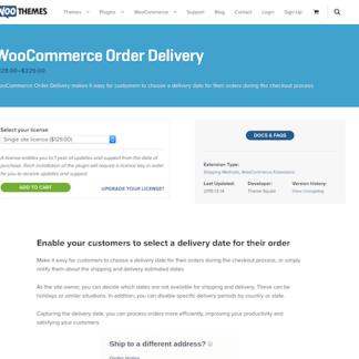 Extensión para WooCommerce: Order Delivery