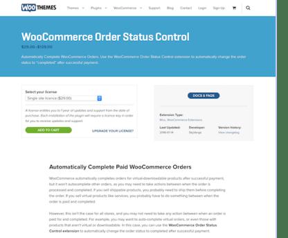 Extensión para WooCommerce: Order Status Control