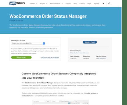 Extensión para WooCommerce: Order Status Manager
