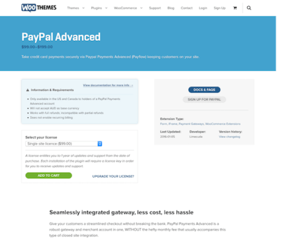 Extensión para WooCommerce: PayPal Advanced
