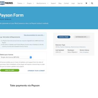 Extensión para WooCommerce: Payson Form